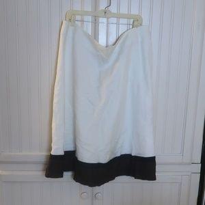 Ashley Stewart White Linen Skirt 3x